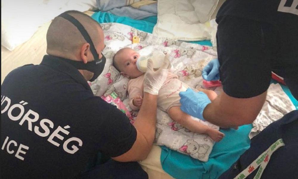 Bedrogozva őrjöngött az apa, a rendőrök mentették meg a csecsemőt