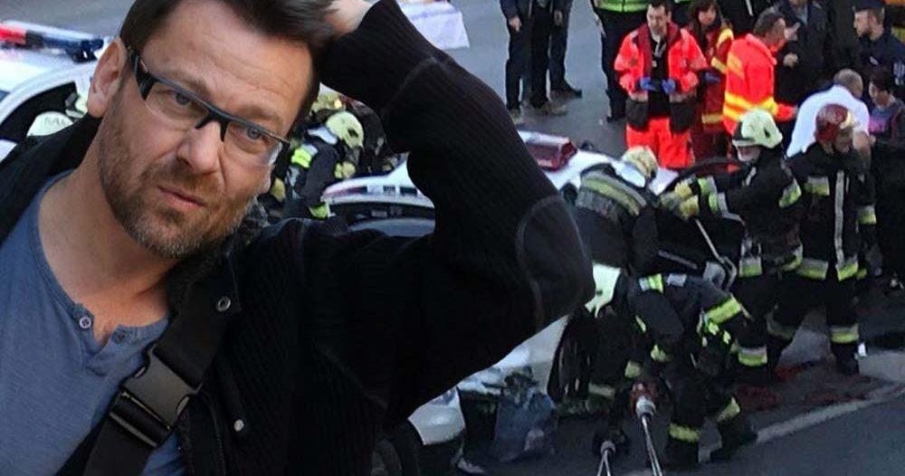 Két évig nem vezethet autót Lovasi András, a zenész egy rendőrautóval ütközött