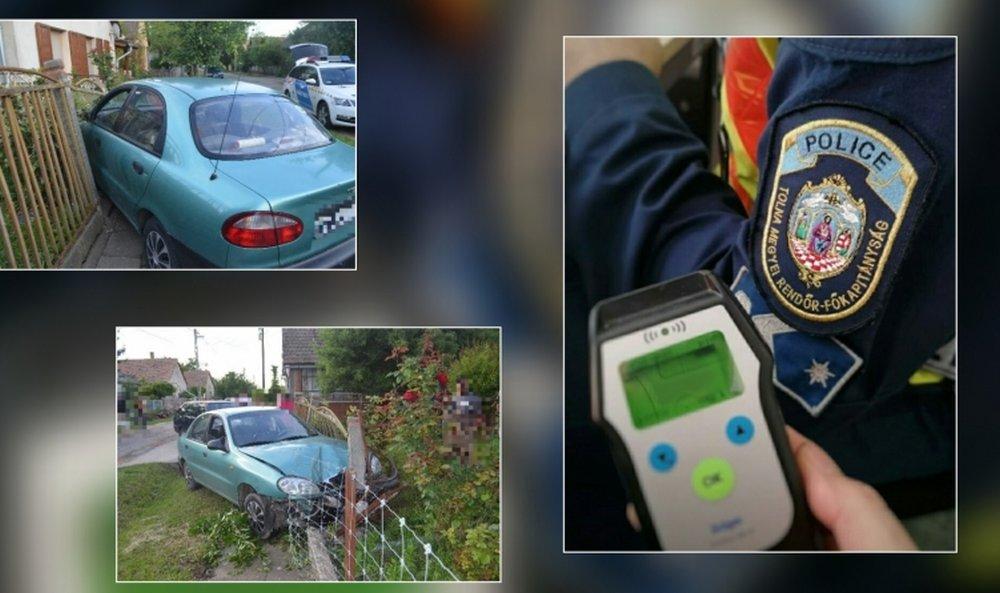 Ittasan, jogosítvány nélkül csapódott a kerítésnek az autójával