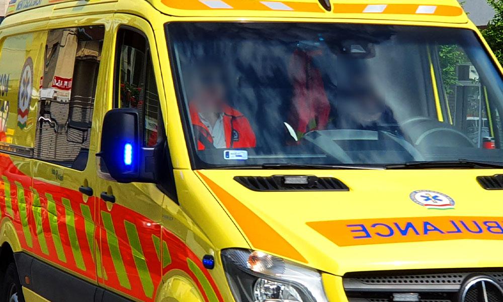 Koronavírusos beteget szállító mentőautó ütközött vaddal Bács-Kiskunban