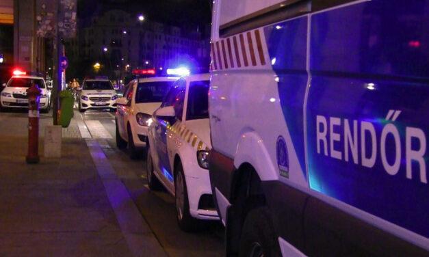 Kékfény villogott mindenhol, nagy rendőrségi akció volt Budapest belvárosban