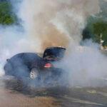 Felhevült kézfertőtlenítő miatt gyulladt ki egy autó Budapesten