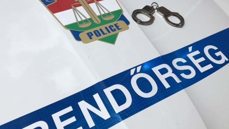 Fél órán belül elfogták a rendőrök a tolvajt