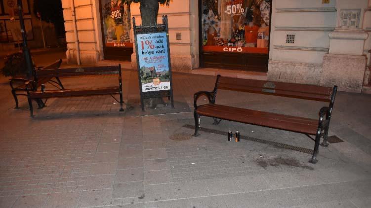 Verekedtek, rongáltak péntek hajnalban Győr belvárosában, a rendőrök elfogták a részeg férfiakat