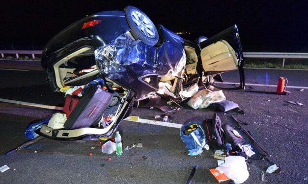 A hősies apuka tömegszerencsétlenséget akadályozott meg, ám a balesetet nem tudta elkerülni az M86-oson, Szombathely közelében