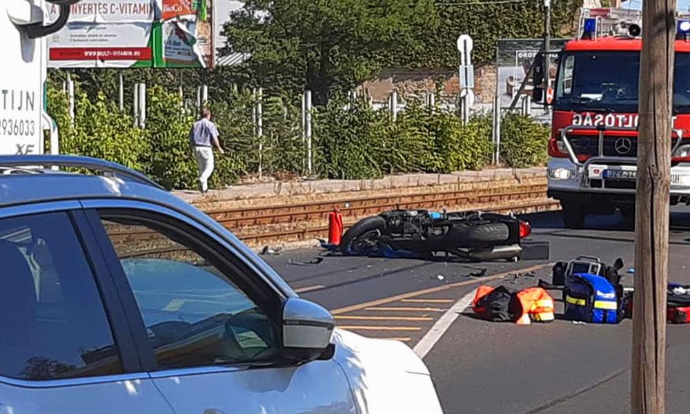Halálos motorbaleset Budapesten az Üllői úton a Shell kútnál