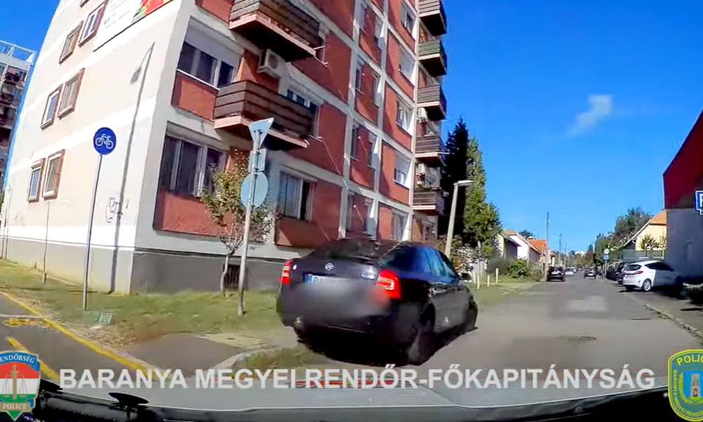 Több autót összetört a bedrogozva, padlógázzal a rendőrök elől menekülő autós Pécsen