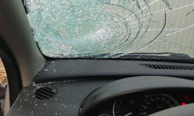 Hatalmas baleset a 87-es számú főúton: felborult egy munkásokat szállító kisbusz