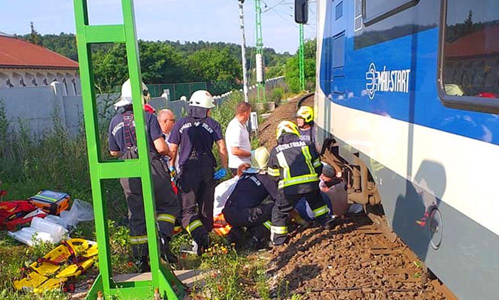 Halálra gázolt egy embert a vonat Vácnál