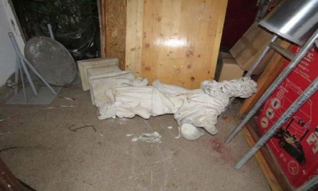 """""""Jó bulinak tűnt"""": Dombóvár egyik szobrát rongálta meg két 15 éves fiú"""