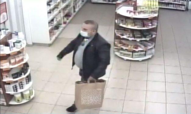 Felháborító: gyógyszertárból lopott a tolvaj, őt keresik a rendőrök