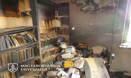 Tagad a tolvaj, aki lopott, majd felgyújtotta a mátyusi polgármesteri hivatalt és a könyvtárat, de társa mindent bevallott