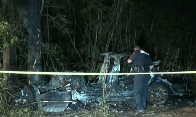 Két ember meghalt, amikor egy önvezető módra kapcsolt Tesla fának csapódott és kigyulladt