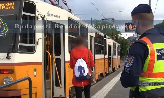 Budapesten, a 41-es villamos útvonalán akcióztak a rendőrök, ezért tartottak most ellenőrzéseket