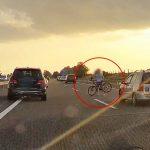 Lerepülő bicikli miatt állt meg a forgalom az M3-as autópályán