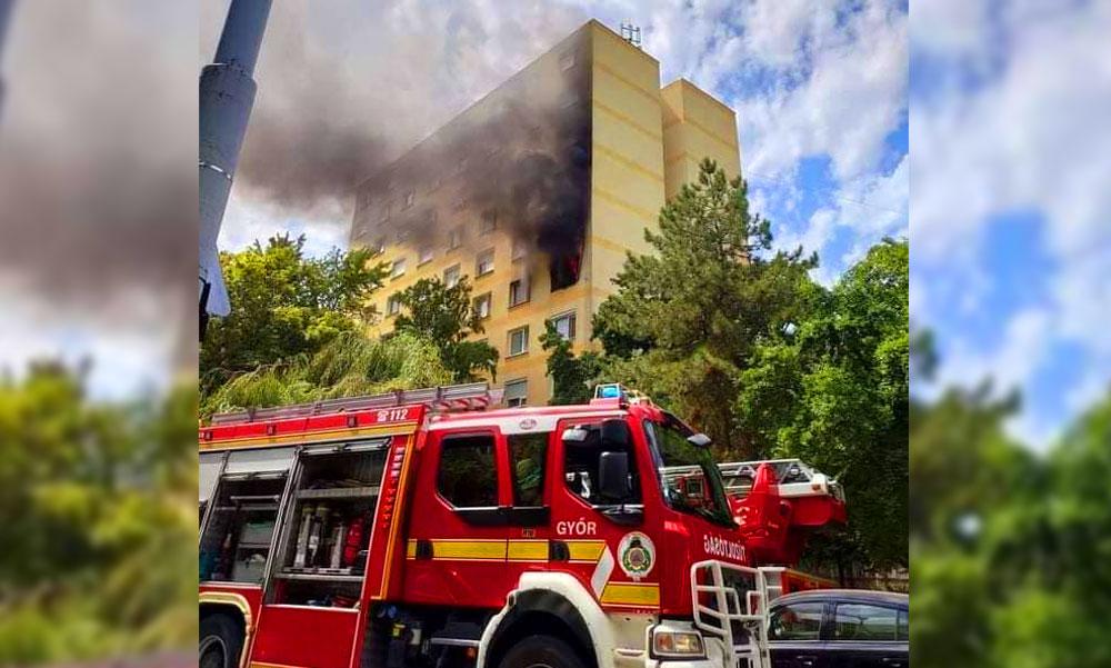"""""""Ivott, cigarettázott, majd elaludt"""" – saját hálószobájában égett halálra egy volt mentőápoló Győrben, a tűzeset miatt több család lakása is tönkre ment"""
