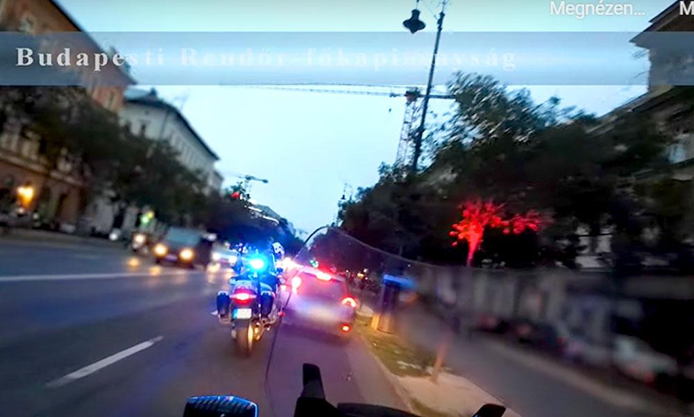 Motoros rendőrök csaptak le az esztelen száguldozókra Budapesten, drónnal figyelték az autósokat Kaposváron